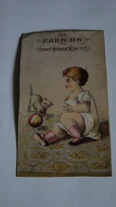 antique advertising cards lot of 3