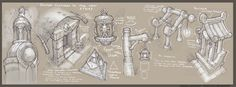 ArtStation - World of Warcraft - In game Prop Studies, Gabe Gonzalez Environment Concept Art, Environment Design, Paper Drawing, Painting & Drawing, Game Design Document, Casual Art, Elevation Drawing, Game Props, Visual Development