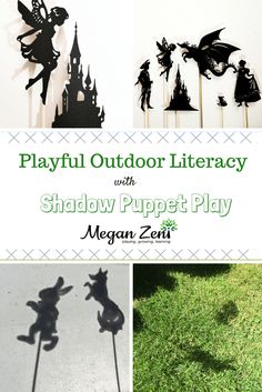 Shadow puppets are a unique and creative resource for supporting and provoking playful literacy in your outdoor classroom! Drama Activities, Library Activities, Indoor Activities For Kids, Kids Learning Activities, Camping Activities, Drama Games, Summer Activities, Family Activities, Teaching Kids