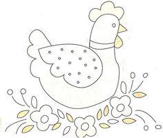 galinhas para pintura e path aplique