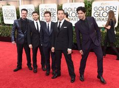 Pin for Later: Check Out All the Stars on the Golden Globes Red Carpet! Kevin Dillon, Adrian Grenier, Kevin Connolly, Jeremy Piven, and Jerry Ferrara