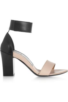 Chloé | Two-tone leather sandals | NET-A-PORTER.COM