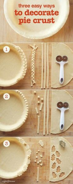 SC Johnson: Our Products Try these 3 easy pie decorations – perfect for the holidays! 31 Miniature Products Likes, 3 Comments – TaEasy Lemon Pie for the Fo Pie Decoration, Decoration Patisserie, Just Desserts, Delicious Desserts, Yummy Food, Pie Dessert, Dessert Recipes, Pie Crust Designs, Pie Crust Recipes