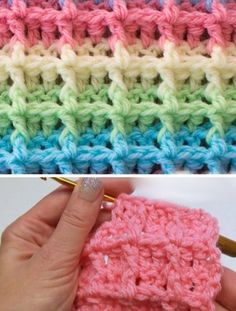 18 Best Crochet Waffle Stitch Images In 2018 Crochet Patterns