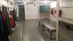 Locker room - Hoosier Gym - Knightstown Indiana - January 2015