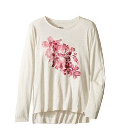 Lucky Brand Kids Pullover Tee with Floral Screen Print (Big Kids)
