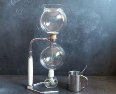 Chemistry Kit coffee maker...1930s Vintage Pyrex CAFETIERE HELLEM 8-cup Glass by CabArtVintage