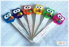 bookmarks! Write comprehension strategies on stick . . .Whooo's understanding? on the other side.