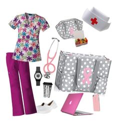 """""""nurses rock"""" by nora-wilkerson-wilson on Polyvore featuring Nurse Mates, Cherokee, Dot & Bo and Speck"""