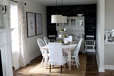Cottage dining room -- Before and after -- Farmhouse Tour
