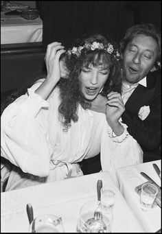 Serge Gainsbourg and Jane Birkin by Tony Frank, Londres 1971