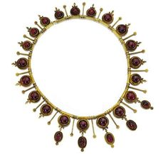 Victorian Gold And Garnet Necklace  c. 1870