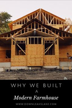 Why we built a modern farmhouse. Follow along as we uncover our old house's mold problem & how we designed & built a new house. We share tips, designs & more Down Leah's Lane! Join us!