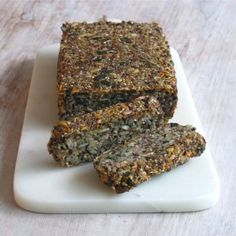 QUINOA SEED LOAF Slippery Elm, How To Cook Quinoa, Nut Butter, Banana Bread, Breads, Tasty, Nutrition, Snacks, Baking