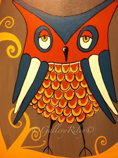 'Funky Owl' by Gallery Riley