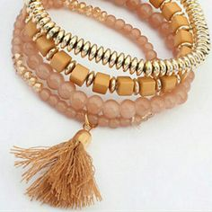 NOW AVAILABLE!! GOLD TASSEL BRACELET Multiple bracelets in different shades of gold Boutique  Jewelry Bracelets