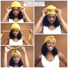 Cancer Hat, Stretch Turban Headwrap, Soft Polyester Chemo Alopecia Headwear for Women or Girl Cancer Patients by Attach-N-Wrap Natural Hair Styles head wrap styles for natural hair Turban Mode, Turban Hut, Turban Headbands, Hair Turban, Fashion Headbands, Tie A Turban, Hair Wrap Scarf, Hair Scarf Styles, Curly Hair Styles