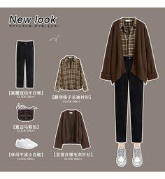 Korean Girl Fashion, Korean Street Fashion, Ulzzang Fashion, Korean Fashion Trends, Korean Outfit Street Styles, Hijab Fashion Inspiration, Kpop Fashion Outfits, Cute Casual Outfits, Retro