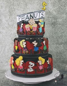Charlie Brown goes to the Movies -  Cake Con Collaboration
