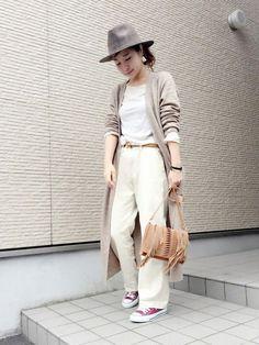 shimo-ne | 4moneさんのショルダーバッグ「URBAN RESEARCH DOORS WOMENS DOORS import スエードフリンジショルダー」を使ったコーディネート