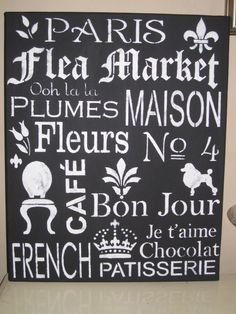 french typography   www.chloescouture.blogspot.com