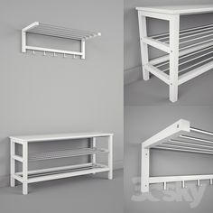 ae5f4ace42f IKEA CHUSIG / TJUSIG - Bench and Shelf Shoe Shelves, Shoe Storage, Narrow  Bench