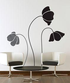 Tres Flores - Vinilo Adhesivo, decoración de paredes. $69.900 COP. Encuentra más vinilos adhesivos en www.giferent.com/vinilos-decorativos-adhesivos