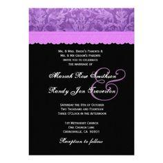 #Purple #Black #White #Damask #Wedding http://www.zazzle.com/purple_black_white_damask_wedding_ver_002_invitation-161510600375051732