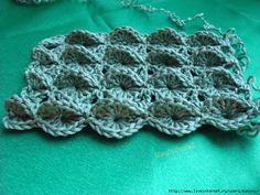 Interestingly adding the 3rd dimension to crochet!  The page has photo instructions too.