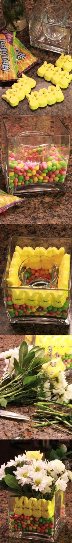 How to create a Peeps centerpiece #DIY #Easter #Peeps
