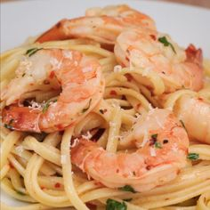 Baked Shrimp Scampi Linguine Recipe by Tasty