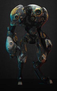 Welding the Punk into Cyberpunk Conception Robot, Character Concept, Character Art, Mode Cyberpunk, Art Steampunk, Humanoid Robot, Arte Robot, Mekka, Robot Concept Art