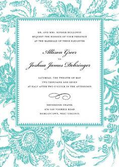 Tiffany Blue Invites!
