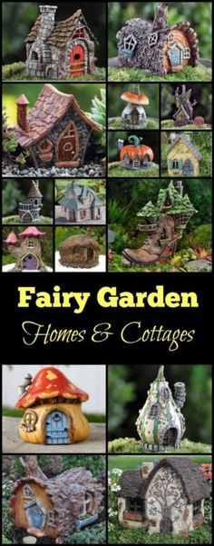 Fairy Garden Homes & Cottages - Ideen Fur Garten Fairy Crafts, Garden Crafts, Garden Projects, Garden Ideas, Mini Fairy Garden, Fairy Garden Houses, Fairies Garden, Fairy Gardening, Fairy Village