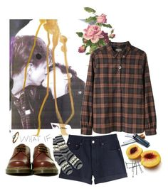 """""""Snow Song"""" by kidmemphis ❤ liked on Polyvore featuring MTWTFSS Weekday, Dr. Martens, FAIR+true, Rodarte, BOBBY, plaid, plaid shirts, muted and spring"""
