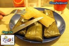 Cassava Suman Recipe http://www.pinoyrecipe.net/cassava-suman-recipe/