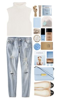 """""""colors of the beach"""" by jackandalice ❤ liked on Polyvore featuring Theory, Mossimo Supply Co., JINsoon, Kinfolk, HAY, NARS Cosmetics, MAKE UP FOR EVER, Bynd Artisan, Paper Source and Pré de Provence"""