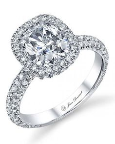 Platinum engagement ring by Jean Dousset