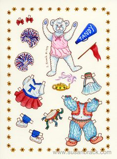 Bear pd * 1500 free paper dolls at Arielle Gabriel's The International Paper Doll Society for paper doll pals at Pinterest *