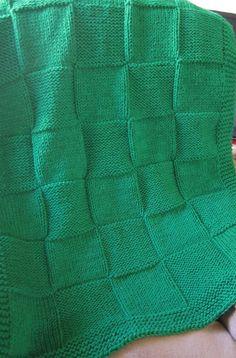 Throw Blanket, Knit Blanket, baby blanket (Green)