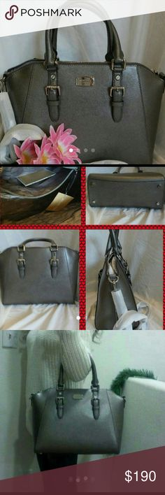 NWT Michael kors bag tote crossbody Authentic  BRAND NEW  Michael Kors handbag  satchel purse  Shoulder bag handbag crossbody With extra long strap  LARGE CIARA STYLE. COLOR: NICKEL METALLIC   ****  ( LIMITED EDITION COLOR)  ****  Tag attached: $328  Size about 14.5 x12 x 6 ....pls ck my listings . I can bundle to save you a lot from shipping fee.        14.5 x 12 x 6 Michael Kors Bags Shoulder Bags