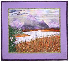 Grand Tetons by Meri Vahl 36' x 32'