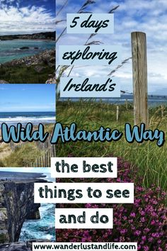 If you are wanting to see the Wild Atlantic Way in 5 days this guide is for you. From the most popular places to the hidden gems along the Wild Atlantic Way we provide our recommendations. Here is our Wild Atlantic Way guide. Packing List For Vacation, Vacation Trips, Day Trips, Travel Europe, Travel Destinations, Driving In Ireland, Wild Atlantic Way, Ireland Travel Guide, Ireland Landscape
