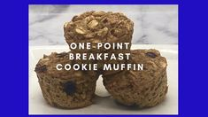 Enjoy these One-Point Breakfast Cookie Muffins for a light treat in the morning. Each mini muffin is one point and 35 calories. Two muffins are three points. Low Sugar Recipes, No Sugar Foods, Light Recipes, Breakfast Muffins, Mini Muffins, Breakfast Ideas, Oatmeal Chocolate Chip Cookies, Mini Chocolate Chips, Low Calorie Breakfast