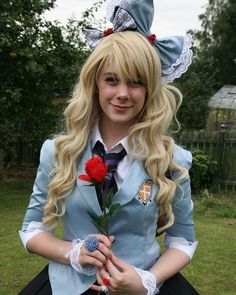 Okay so this is a genderbend version on Tamaki from Ouran. I don't know who the cosplayer is but she is adorable and all credit of this cosplay and these photos go to her!