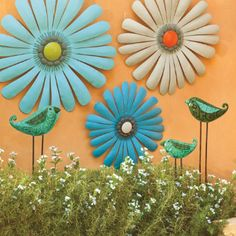 Cheer up any indoor or outdoor space with our Shasta Daisies Metal Wall Art. These fresh, hand-painted metal blooms are powdercoated for displaying outdoors. Hang them all together or separately—they're sure to brighten up any wall.