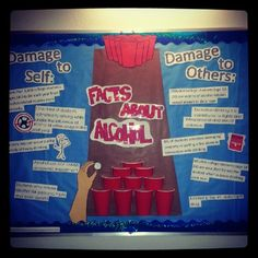 """""""Facts About Alcohol"""" Bulletin board #residentassistant"""
