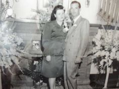 Wedding Picture of Harold E. & Clara B. Barnett  Aug 1947 Reno, Nevada Wedding of Harold E. Barnett & Clara Beel McGee at 445 Thoma Street,home of mother of Clara Belle McGee.