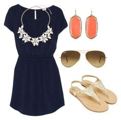 """""""Untitled #38"""" by carebear1224 on Polyvore featuring Splendid, Dorothy Perkins, Kendra Scott and Ray-Ban"""