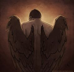 Castiel from the show Supernatural by Elentori.